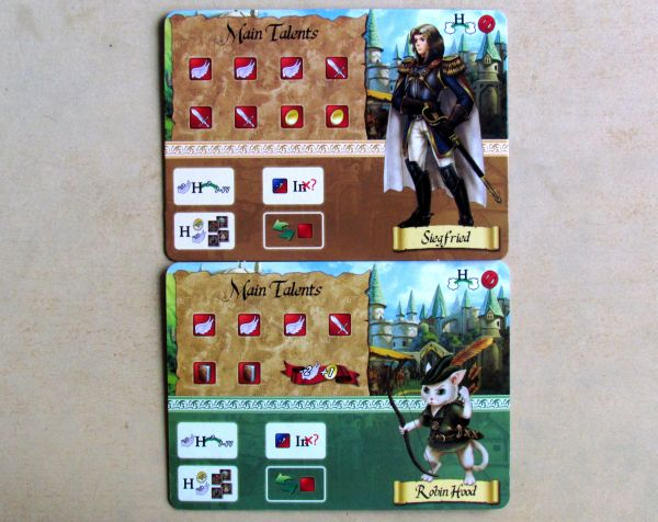 Board game review: 12 Realms - hero cards