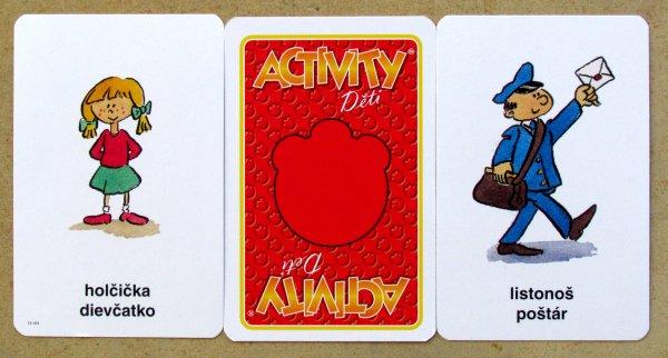 Activity Děti - karty