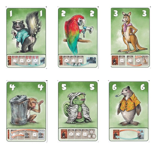 Beasty Bar - karty zvířátek
