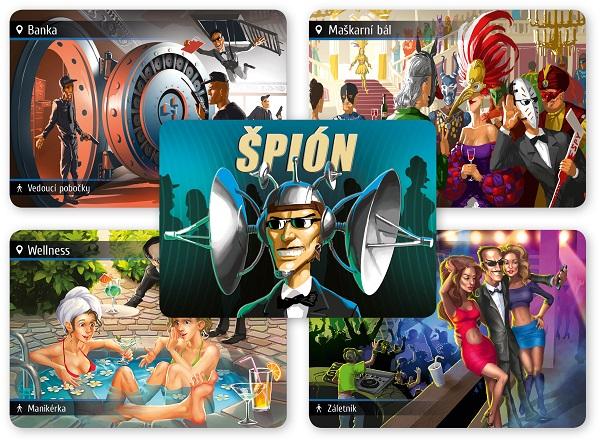 Špionátor - karty lokací