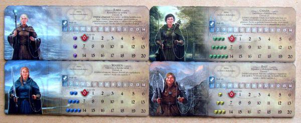 Andor: Dobrodružné legendy - desky hrdinů