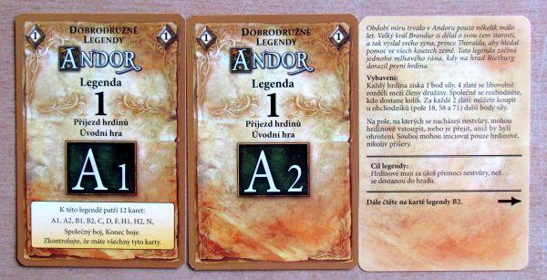 Andor: Dobrodružné legendy - karty