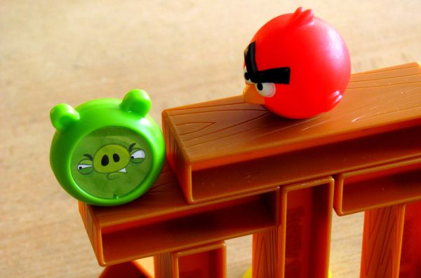Angry Birds - rozehraná hra