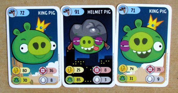 Angry Birds karetní hra - karty