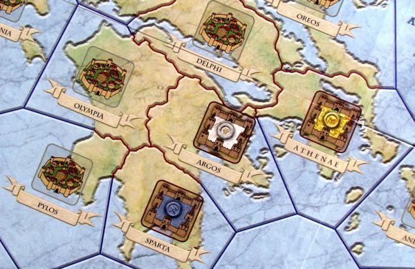 Antike Duellum - detail herního plánu