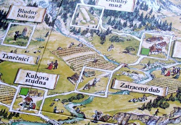 Zeměplocha: Čarodějky - detail herního plánu