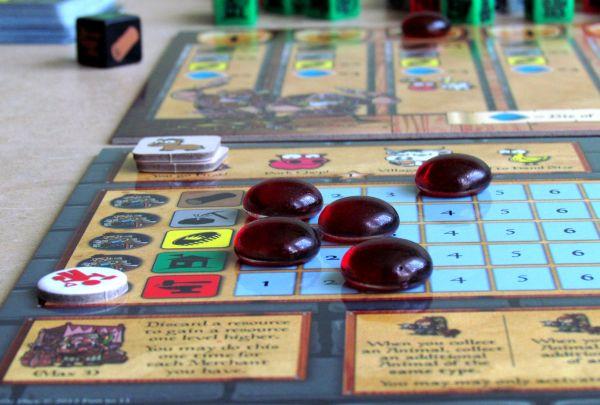 Castle Dice - rozehraná hra