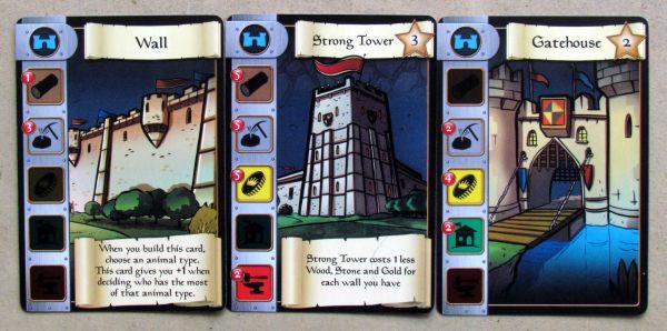 Castle Dice - cards