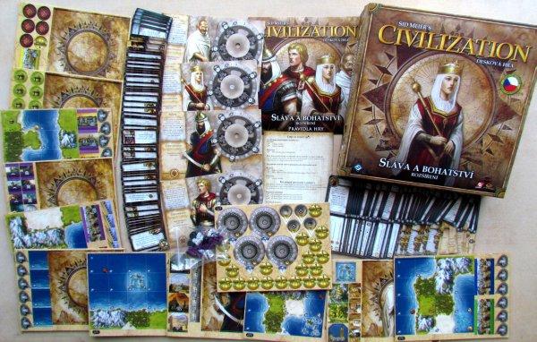 Civilizace: Sláva a bohatství - balení