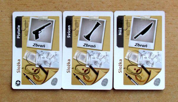 Cluedo: Podezřelý - karty