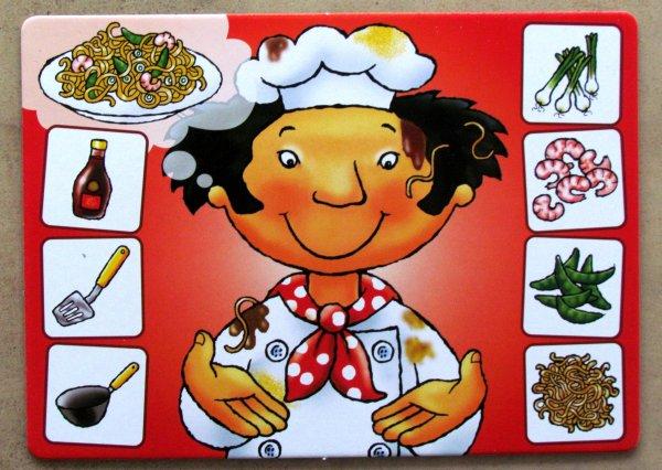 Bláznivý šéfkuchař - hráčská deska