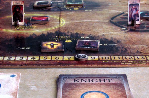 Board game review: Darkest Night - game in progress