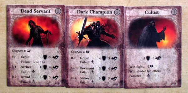 Board game review: Darkest Night - cards
