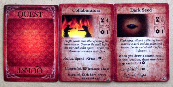 Board game review: Darkest Night: With an Inner Light - cards