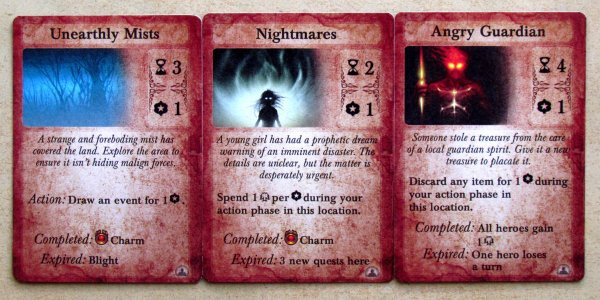 Darkest Night: With an Inner Light - cards