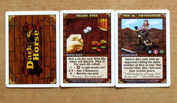 Dark Horse - action cards