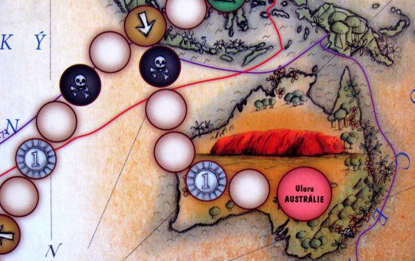 Cestovatelské hry - detail herního plánu