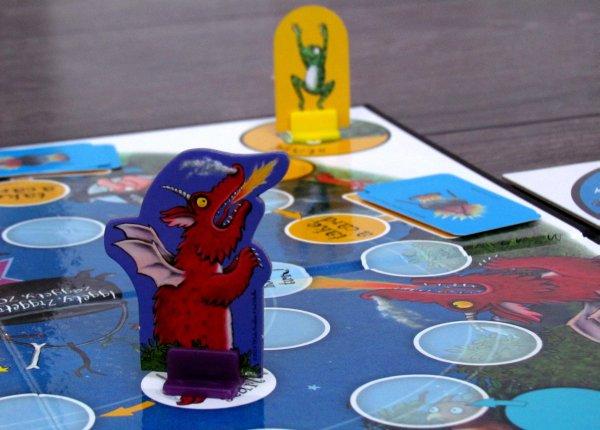 Dragon Chase Board Game - připravená hra