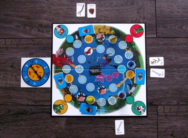 Dragon Chase Board Game - rozehraná hra