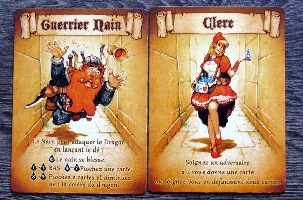 Dragon Run - karty hrdinů
