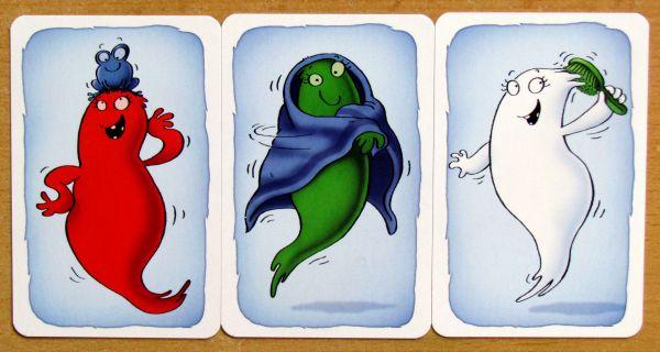 Duchová v koupelně - karty