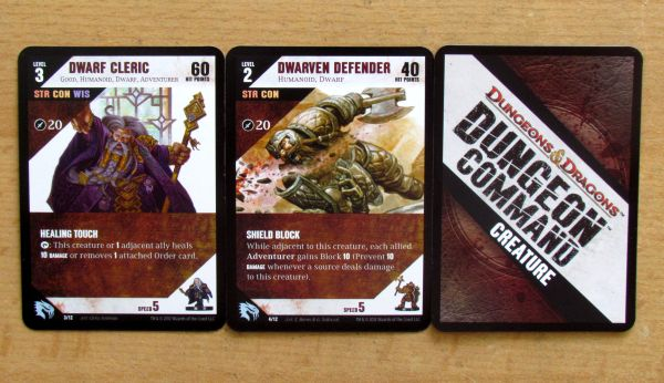 Photo: Dungeon Command: Heart of Cormyr, Sting of Lolth - cards