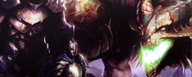 Review: Dungeon Command Sting of Lolth vs Heart of Cormyr - spiders against dragon