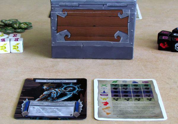 Dungeon Roll - připravená hra