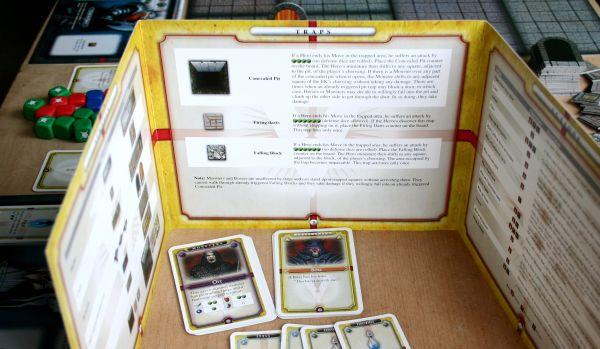 Dungeon Venture - připravená hra