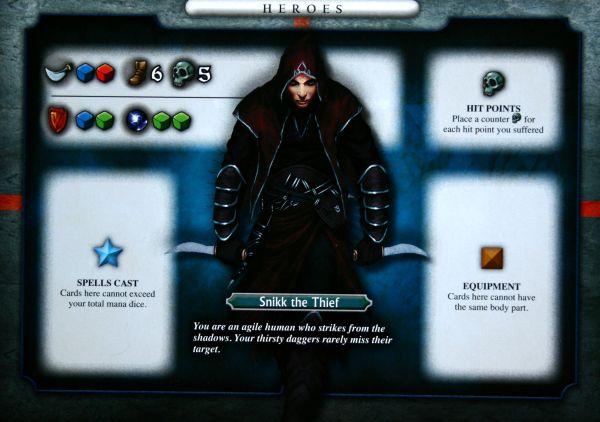 Dungeon Venture - karta hrdiny
