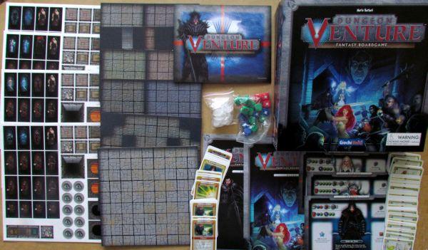 Dungeon Venture - balení