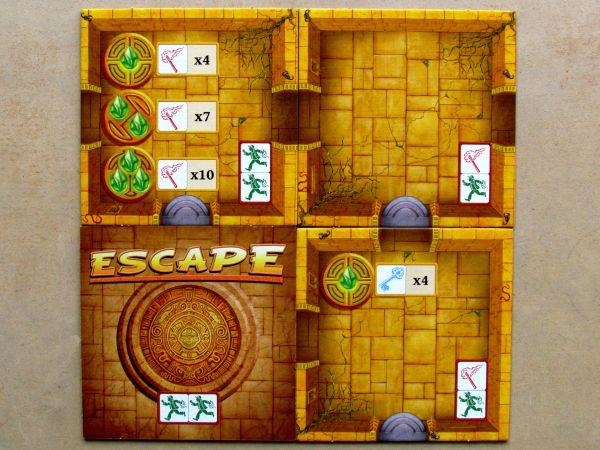 Escape: Chrámová kletba - dílky mapy