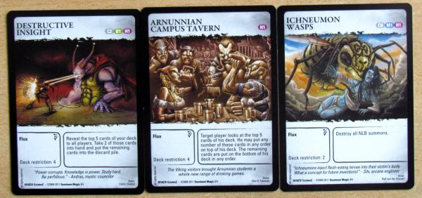 Board game review: ExistenZ: On the Ruins of Chaos - cards
