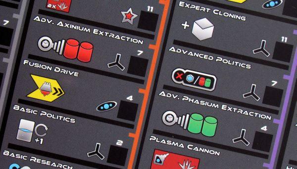 Exodus: Proxima Centauri - detail hráčského plánu