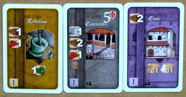 Florenza: The Card Game - karty