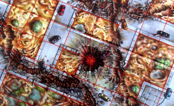 Godzilla: Kaiju World Wars - detail herního plánu