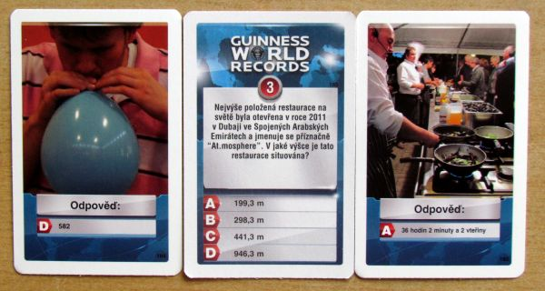 Guinessova kniha rekordů - karty