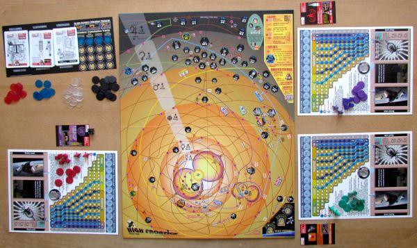 High Frontier - připravená hra