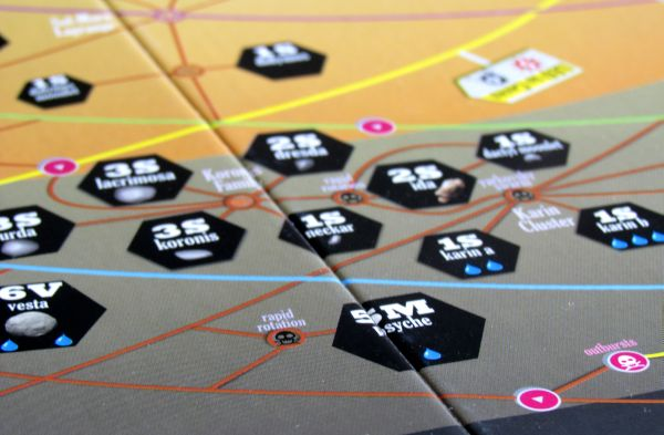Board game review: High Frontier - board detail