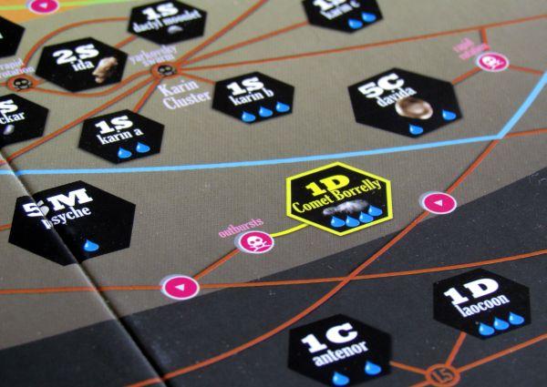 High Frontier - detail herního plánu