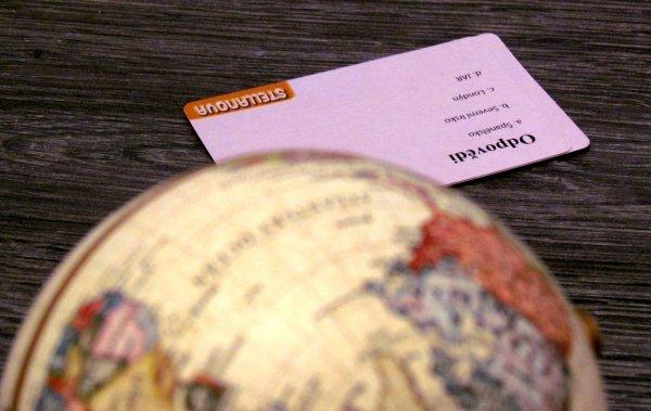 Historický kvíz s globusem - rozehraná hra