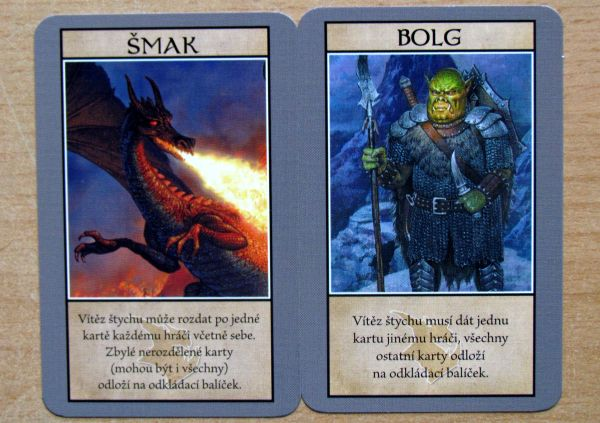 Hobbit: Karetní hra - karty