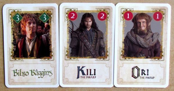 Hobit: Neočekávaná cesta Hra k filmu - karty