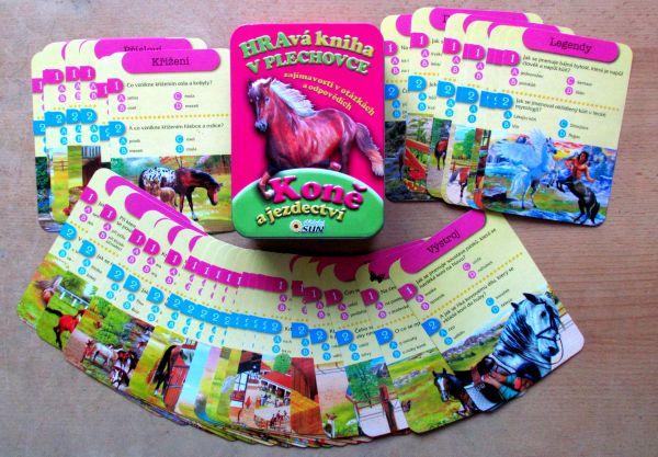 Hravé knihy v plechovce - Koně - balení