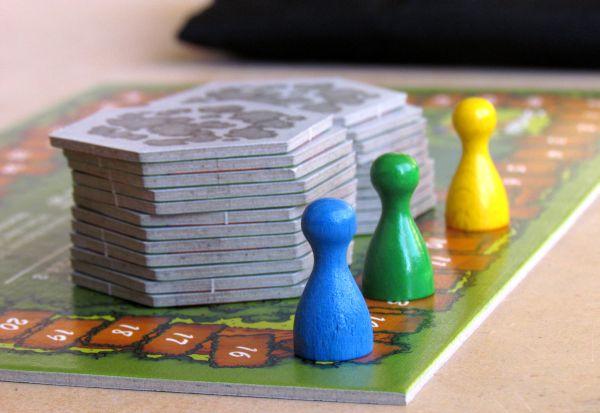 Board game review: Im Wald da sind die R�uber - game in progress