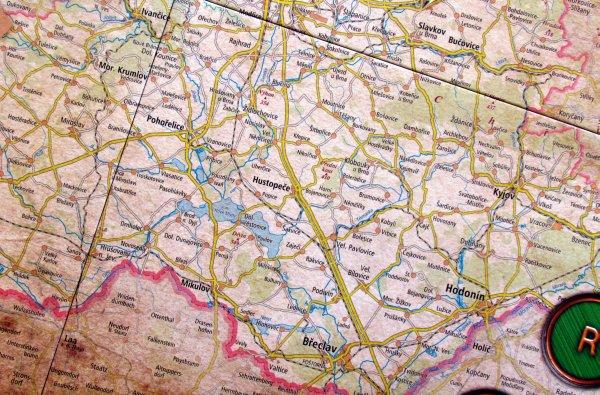 Jižní Morava - detail herního plánu