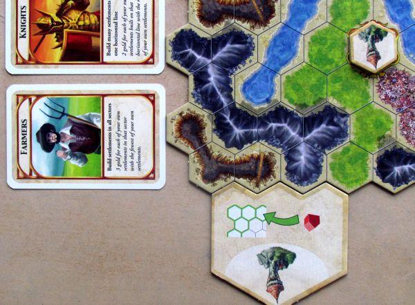 Kingdom Builder - připravená hra