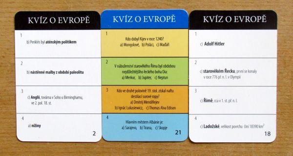 Kvíz o Evropě mini - karty