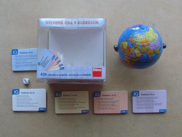 Politický kvíz s globusem - balení