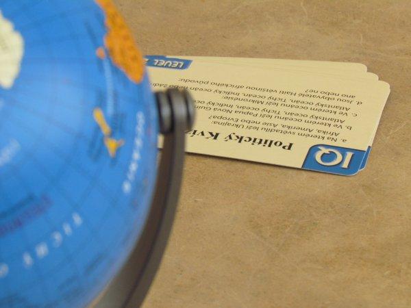 Politický kvíz s globusem - připravená hra